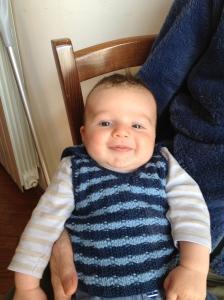 gilet neonato maglia