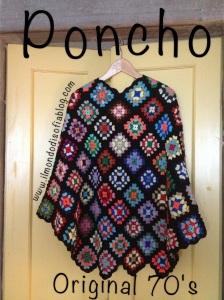 Poncho original 70's