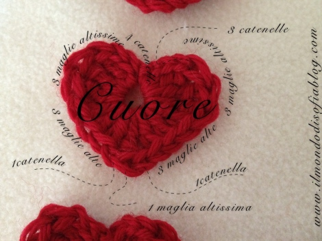 cuore all'uncinetto