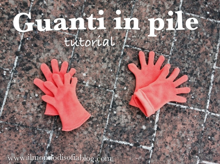 tutorial guanti in pile